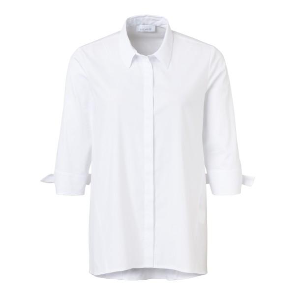 Bluse mit Dreiviertelärmeln mit Bindedetail in Weiß von JUST WHITE