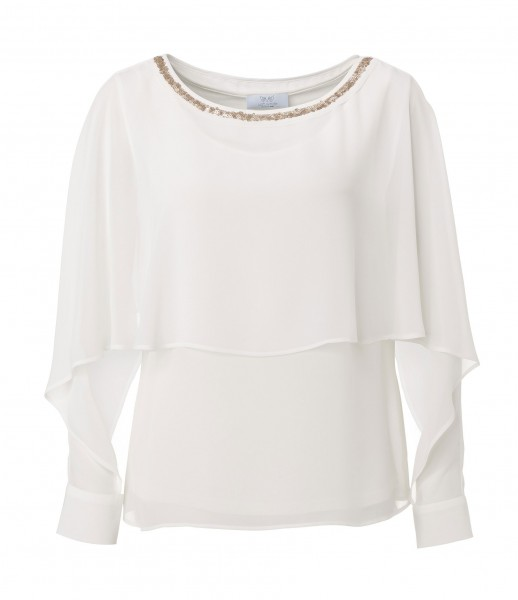 JUST WHITE Modische Two-in-One Bluse