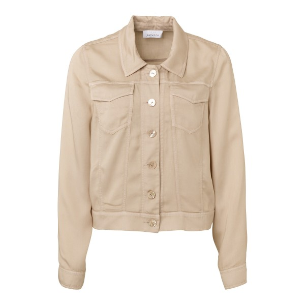 Nachhaltige, kurze Jacke für Damen in Beige von JUST WHITE