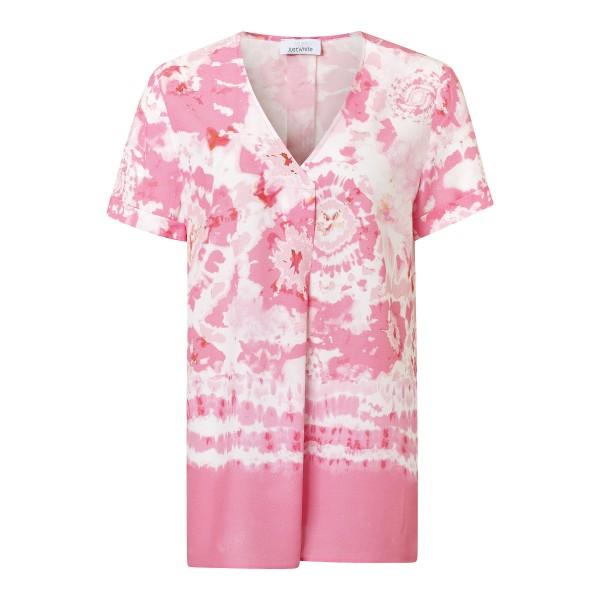 Batik Blusenshirt in Rosa aus 100 % Viskose Damen von JUST WHITE