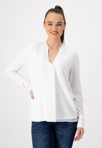 Shirtbluse mit V-Ausschnitt von justWhite