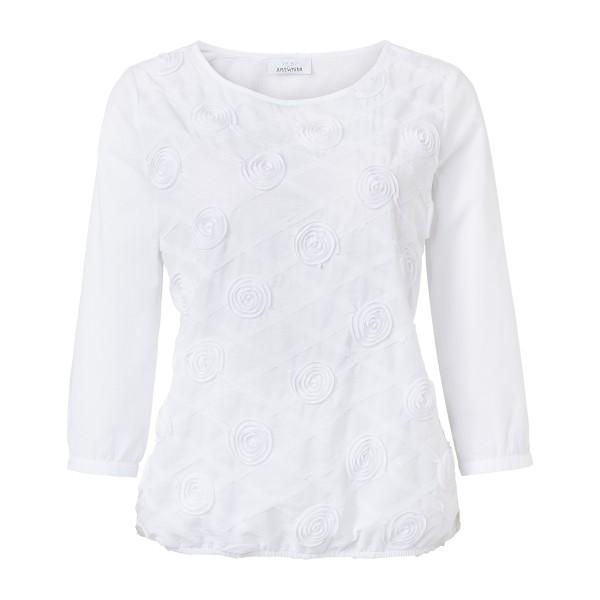 Weiße 3/4 Arm Bluse aus Baumwolle von JUST WHITE