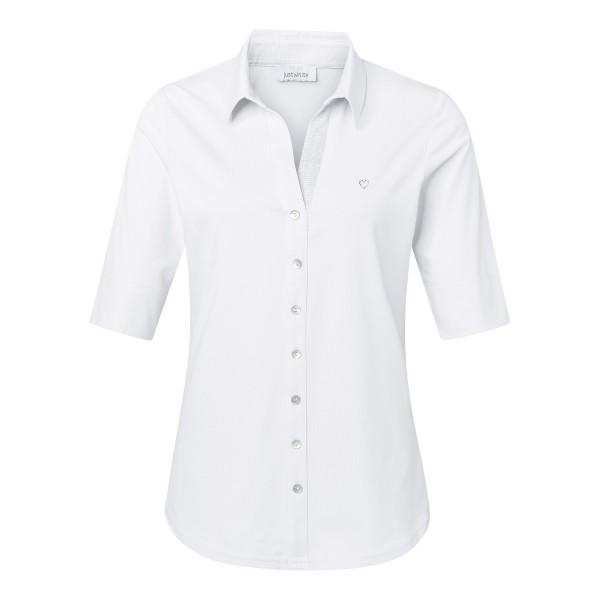 Damen Shirtbluse in Weiß mit V-Ausschnitt von JUST WHITE
