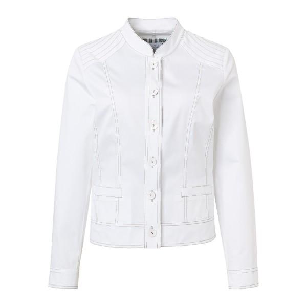 Weiße Kurzjacke mit Taschen und Nähten in Khaki von JUST WHITE