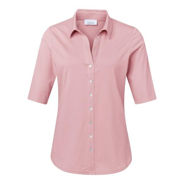 Damen Blusenshirt Kurzarm in Rosa Altrosa von JUST WHITE