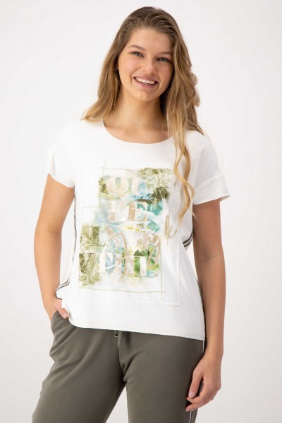 Viskose Shirt mit angesagtem Dschungel Print für Damen von JUST WHITE