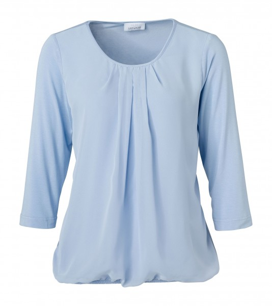 JUST WHITE Shirtbluse in Bleu