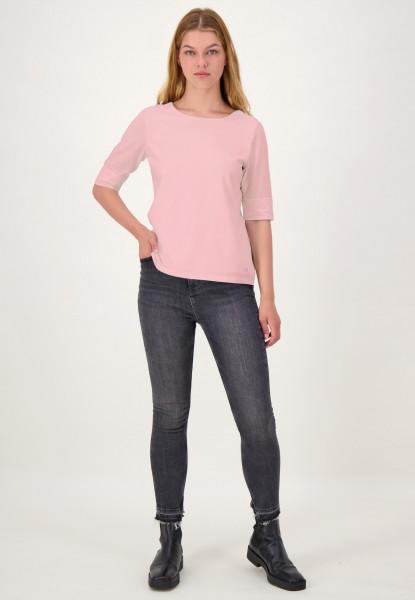 Rosa Kurzarm Basic Shirt von justWhite