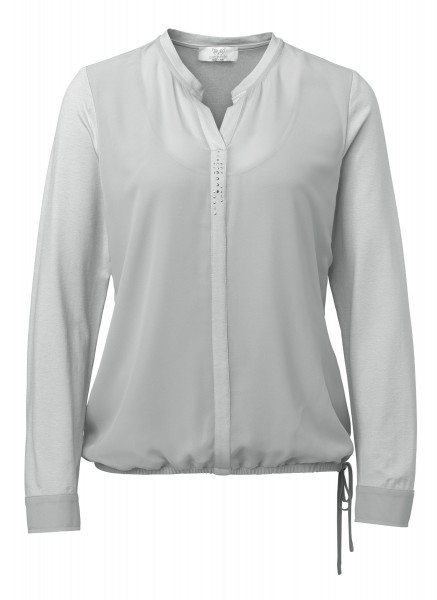Two-in-One Shirtbluse in Grau