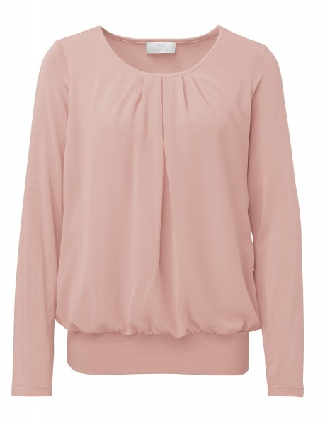 Shirtbluse in Puder