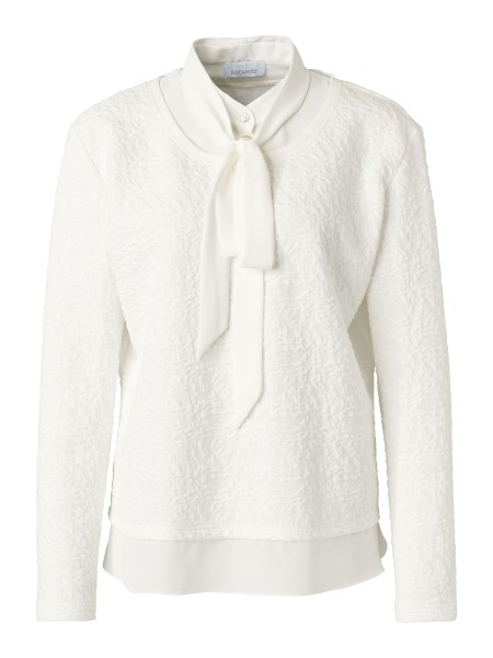 JUST WHITE Sweatpullover mit Schluppe