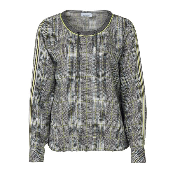 Shirtbluse mit Glencheck-Muster