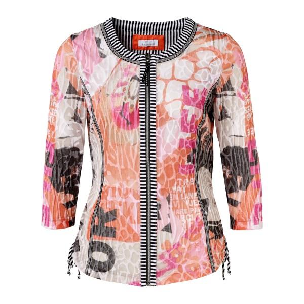 Damen Jacke mit Allover Print in Pint Orange und Ausbrennern von JUST WHITE