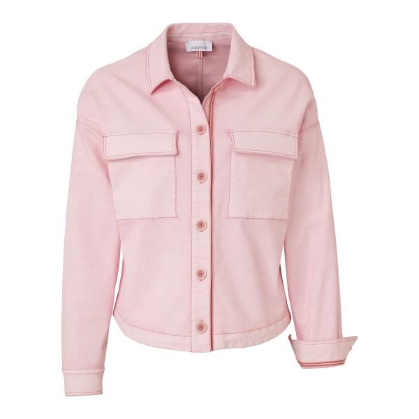 Rosa Damen Jacke mit Taschen und Tunnelzug von JUST WHITE