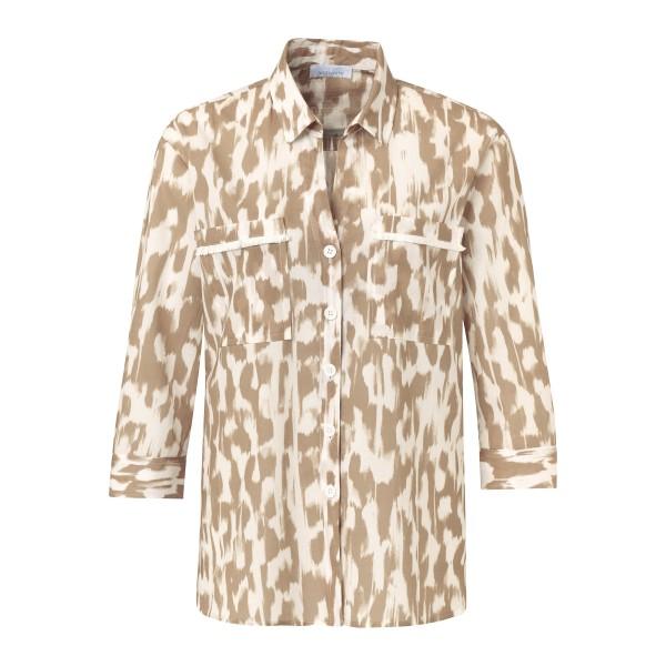 3/4 Arm Bluse mit Hemdkragen und Brusttaschen von JUST WHITE