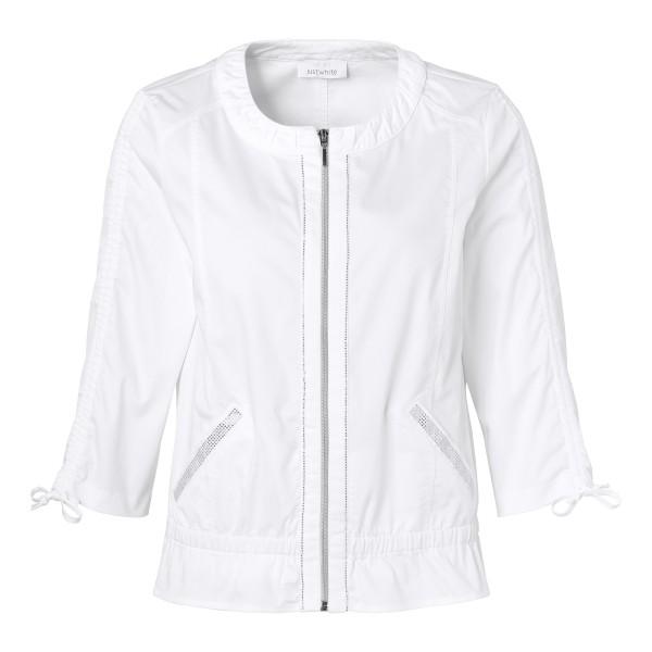 Luftige Jacke mit Glitzer-Details in Weiß von JUST WHITE