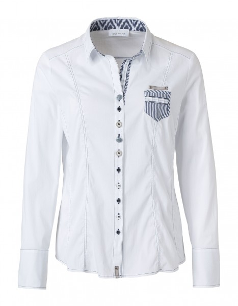 JUST WHITE Sportive Bluse