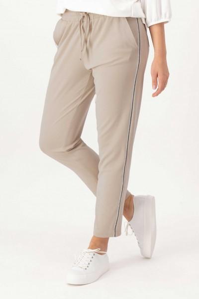 Stoffhose im Jogging-Stil mit Taschen in Beige von JUST WHITE