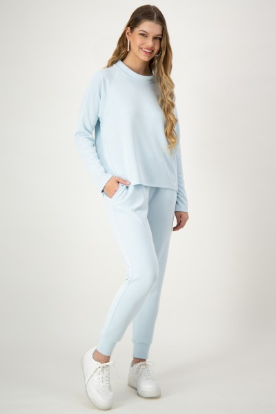 Sweat mit Jogpants in Hellblau von JUST WHITE