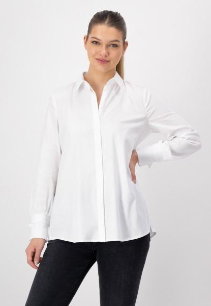 Weiße Bluse mit Hemdkragen und Knopfleiste von jusWhite
