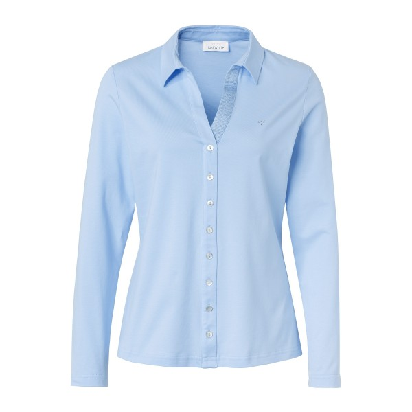 Hellblaues Shirt in stilvoller Blusen-Optik von JUST WHITE