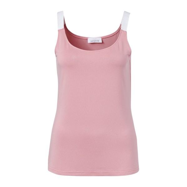 Rosa Tank Top Basic für Damen mit funkenden Träger von JUST WHITE