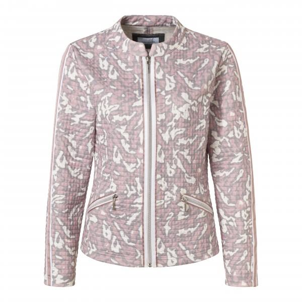 Jacke mit Animal Print in Grau, Rosa und Weiß von JUST WHITE