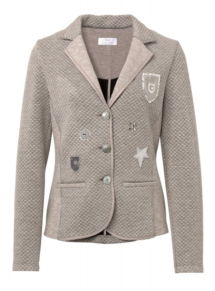 JUST WHITE Blazer mit Patches