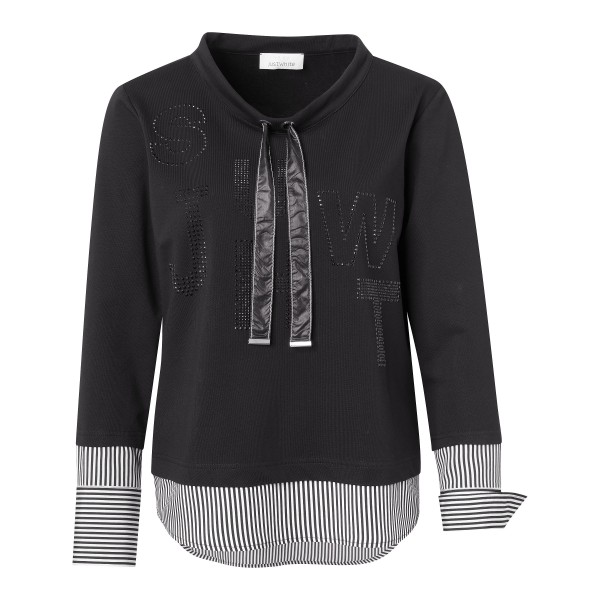 Two-in-One Sweatshirt in Schwarz