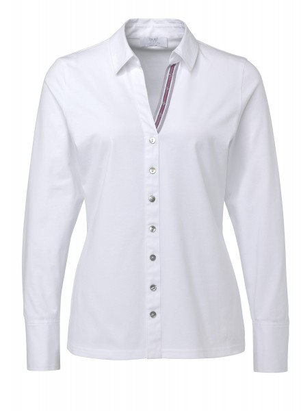 JUST WHITE Sportive Shirtbluse