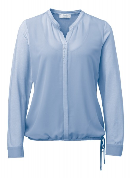 Two-in-One Shirtbluse in Bleu