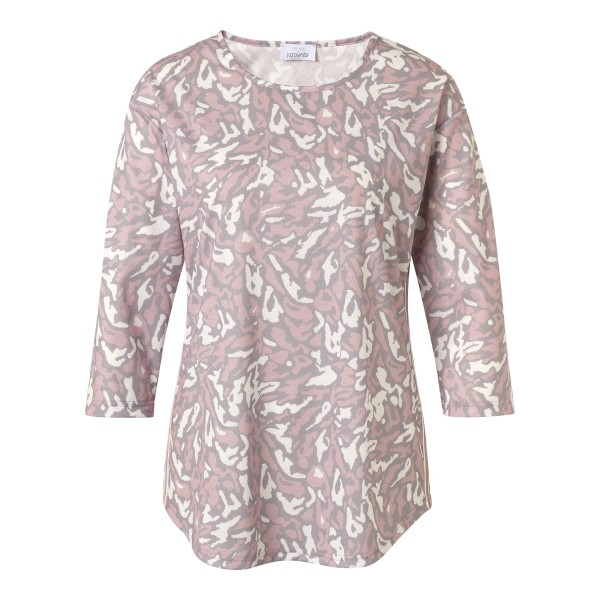 Casual Shirt mit Animal Print in Grau Rosa von JUST WHITE