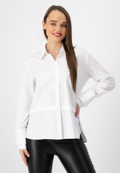 Weiße Langarm Bluse aus nachhaltiger Baumwolle von justWhite