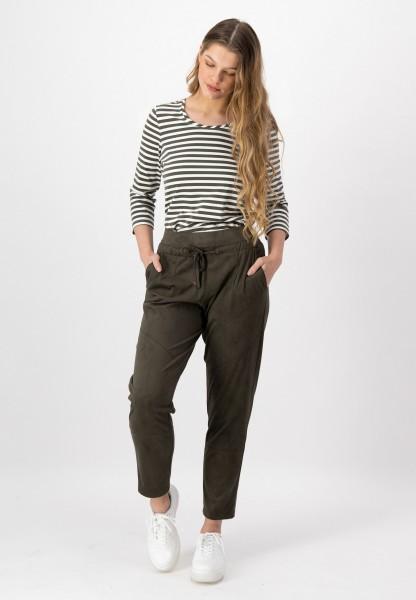 Damen Hose im Joggpants-Style in Khaki von justWhite