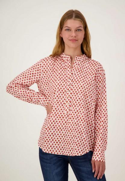 Modische Bluse mit All Over Print justWhite
