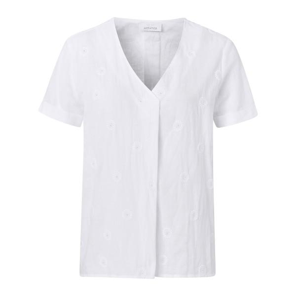 Besticktes Shirt mit Glitzer Steinen von JUST WHITE