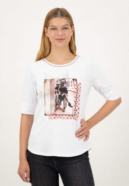 Halbarm Shirt mit Frontprint
