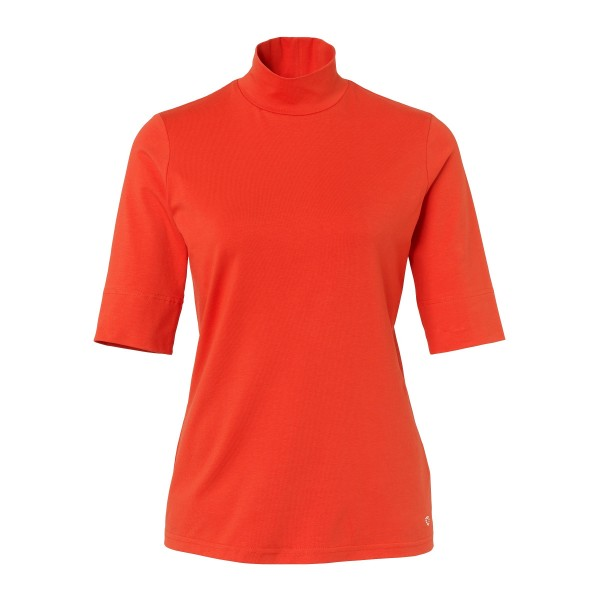 Rollkragen Shirt im leuchtenden Orange von JUST WHITE