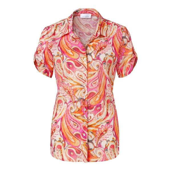 Bunte Bluse mit Paisley Muster in Pink, Orange von JUST WHITE