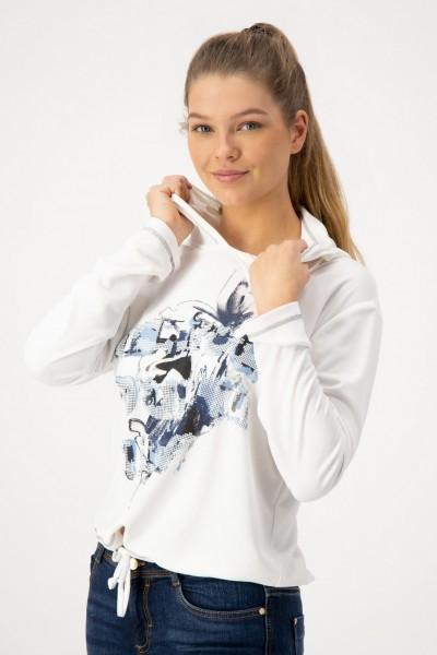 Kapuzenpullover mit Print von JUST WHITE