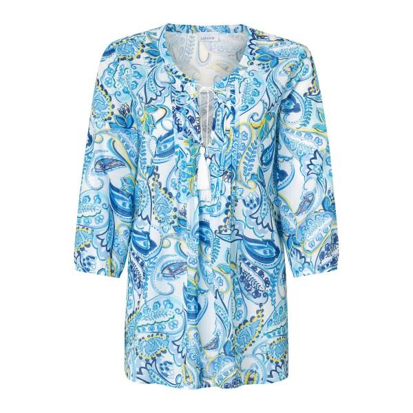 Tunika Bluse mit Paisley Muster aus Baumwolle von JUST WHITE