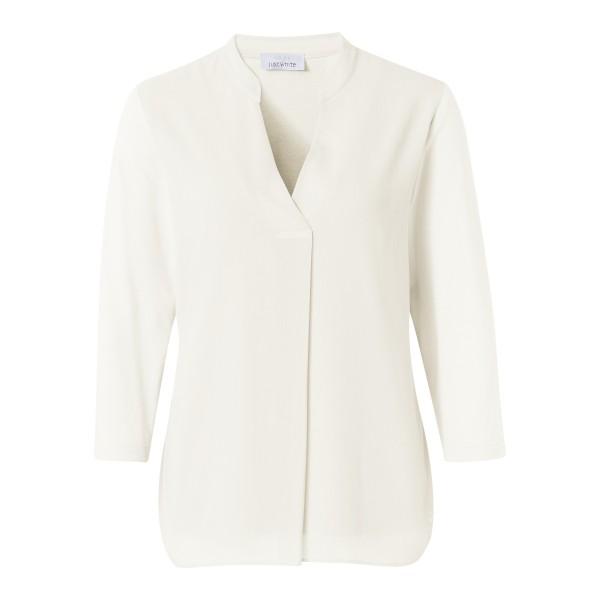 Bluse mit Materialmix in Weiß von JUST WHITE