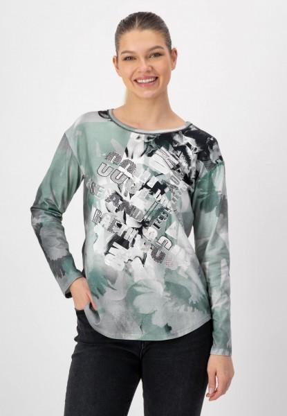 Shirt mit modischem Frontprint von justWhite