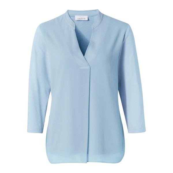 Hellblaue Chiffon Bluse mit V-Ausschnitt von JUST WHITE