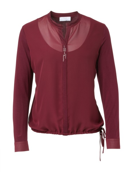 Two-in-One Shirtbluse in Bordeaux