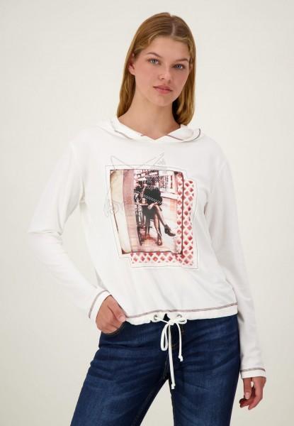 Sweatshirt mit Frontprint und Kapuze