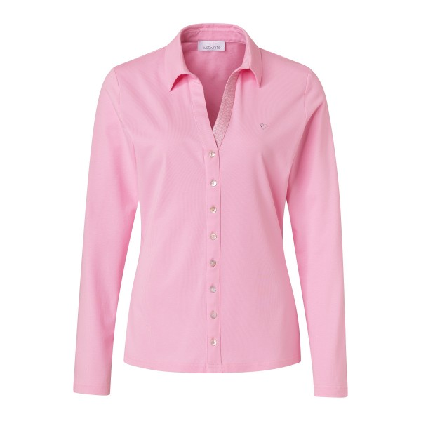 Rosa Shirt in Blusen-Optik von JUST WHITE