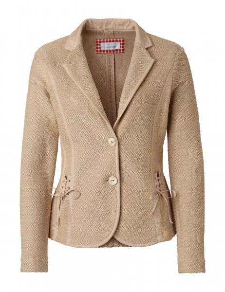 JUST WHITE Formstabiler Strickblazer