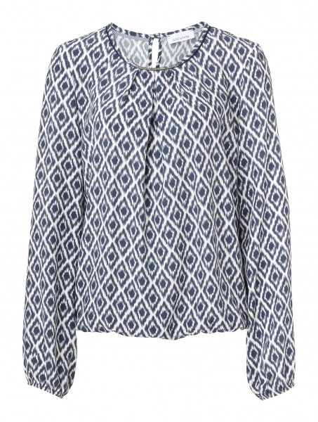 JUST WHITE Shirtbluse mit Ikat-Muster