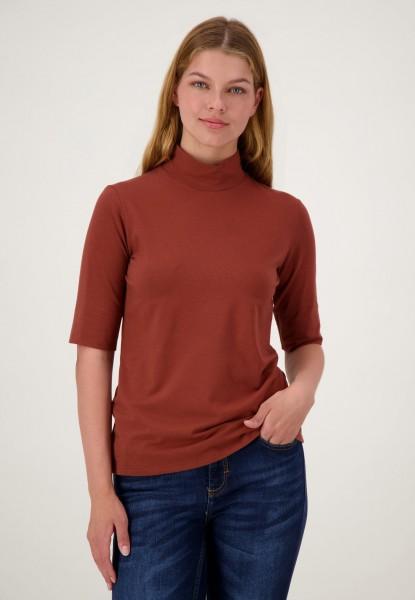 Rotes Rollkragenshirt aus Baumwolle von justWhite